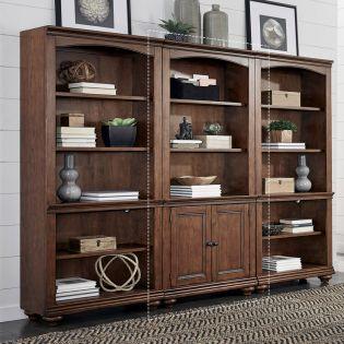 i07-332-WBR  Door Bookcase