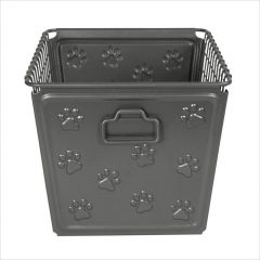 SPC-86476  Basket Paws Industrial Gray