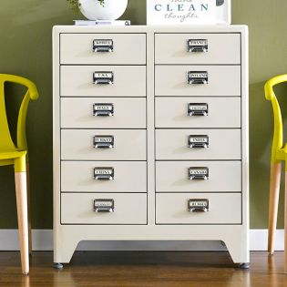 16-004-Ivory  Metal Cabinet