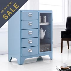 16-001-Sky Blue  Metal Cabinet