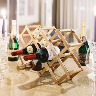 G15-T030  Bamboo Wine Rack