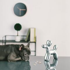 Crazy Dog-Silver Coin Bank  (Big Size)