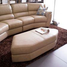 7880  Leather Ottoman