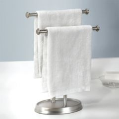 021019-410 Palm Tree-Nickel Double Towel Holder