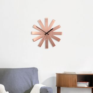 118070-880 Ribbon-Copper Wall Clock