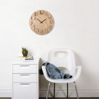 118080-390 Shadow-Natural Wall Clock