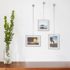 311335-410 Fotochain PD-Nickel Photo Frame