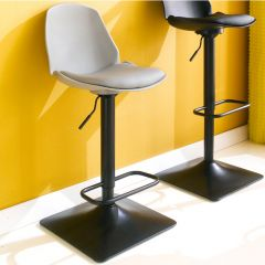 Cory-Grey  Bar Chair