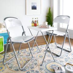 FC-White Folding Chair