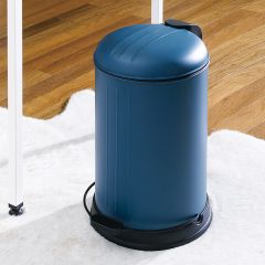 A-10106P-12L-Turquoise  Round Retro Trash Can
