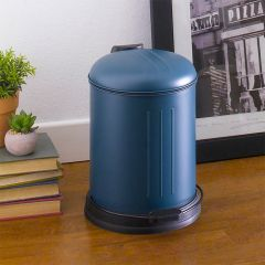 A-10106P-5L-TURQUOISE  Round Retro Trash Can