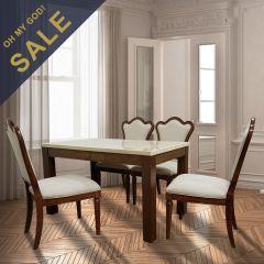 M3070-4-White  Dining Set