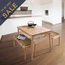 D1160-4  Dining Set  (1 Table + 2 Benches)