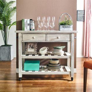 30434  2 Drawer Kitchen Cart