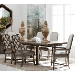 American Chapter  Dining Set (1 Table + 2 Arm + 4 Side)