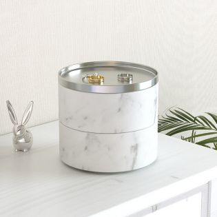 299470-491   Tesora Jewelry Storage-White