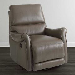 3791-9B Barrington   Leather Swivel Glider Recliner