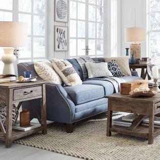 U4362-20 Blue Sofa