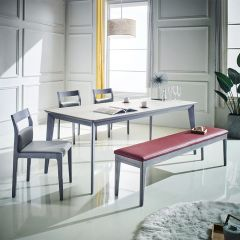 Liancrema  Dining Set (1 Table + 3 Chairs + 1 Bench)