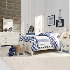 Lake House 8791-4105K  Low Poster Queen Bed Set  (침대 + 협탁 + 화장대)