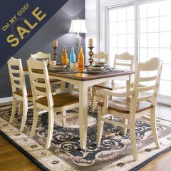 D2806-6  Dining Set  (1 Table + 4 Side + 2 Arm)