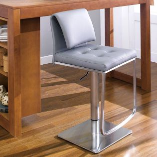 0893-GRY  Adjustable Bar Stool
