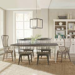 444 Juniper-6  Dining Set  (1 Table + 2 Hostess + 4 Side)