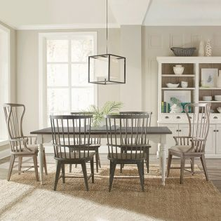 444 Juniper-6  Dining Set  (1 Table + 2 Hostess + 4 Side)