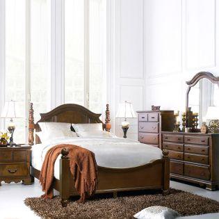 Tori Bed Set   Poster Bed (침대+협탁+화장대)