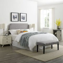 DS-D307-650-1 QN Clip Corner Headboard and Bench