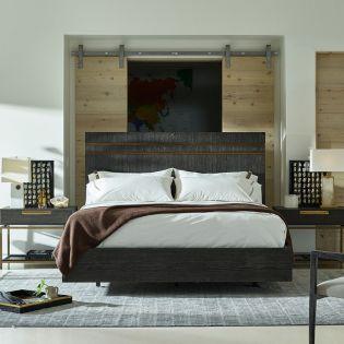 Modern 847250B   Beatty Bed (침대+협탁+화장대)