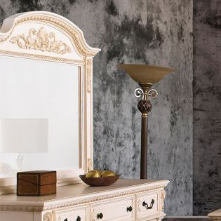 B8168-White  Mirror Only ~French Style~