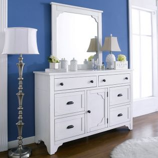 B4124-20  Drawer Dresser & Mirror