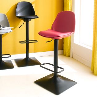 Cory-Red  Bar Chair
