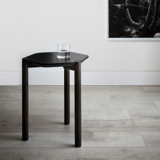 1005863-048  Lexy-Blk/Wal Side Table