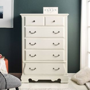 Tori-White-CH  5-Drawer Chest