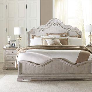 71672 Elizabeth  Queen Panel Bed  (침대+협탁+드레서)
