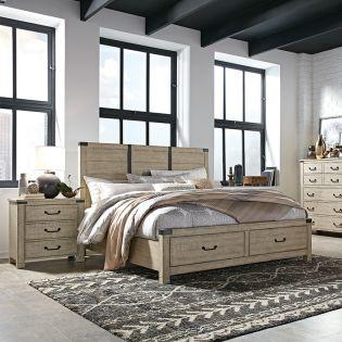 B5005  Panel Storage Bed