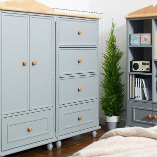 Tara-Grey-4DR  4-Drawer Chest