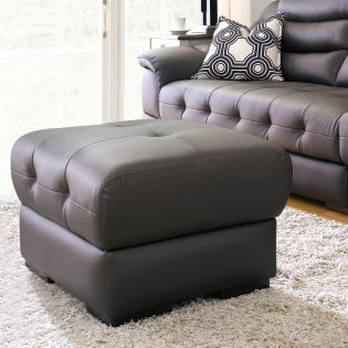 M8001-Brown  Leather Ottoman  (천연가죽)