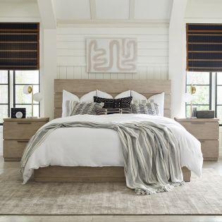 Milano 9660  Panel Bed  (침대+화장대+협탁)