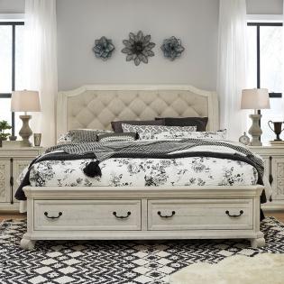 B4436  Complete Sleigh Storage Bed  (침대+협탁+화장대)