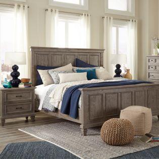 B4352  Complete Panel Bed (침대+협탁+화장대)