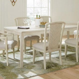 45951 Lilly  Dining Set  (1 Table + 2 Arm + 4 Side)