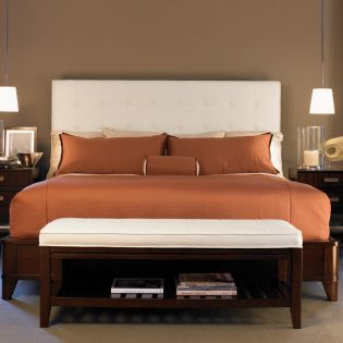 Zacara  Fabric Panel Queen Bed (침대 Only)