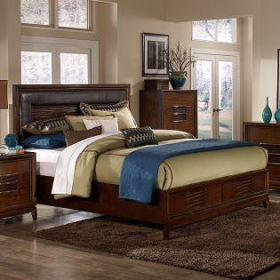 B2089  Island Bed (침대+협탁+화장대)
