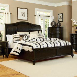 B2343  Panel Queen  Bed (침대+협탁+화장대)