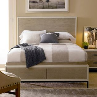 Spencer 219210SB  Panel Storage Bed (침대+협탁+화장대)
