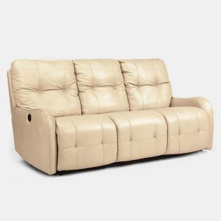 1183-62  Leather Recliner Sofa