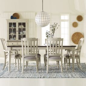 6400-221 Brookhaven Dining Set (1 Table + 2 Arm + 4 Side)